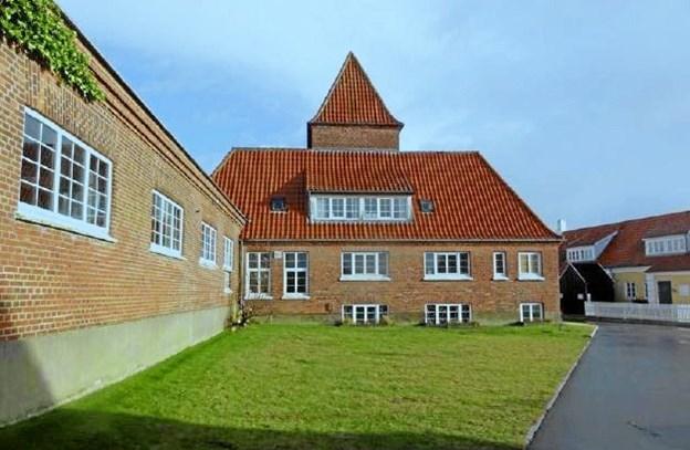Den oprindelige Plesnerbygning er i dag delvis gemt væk bag senere tilbygninger. Foto: Frederikshavn Kommune Carl Aage Østergaard