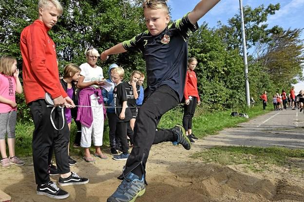 Andreas Nees fra Vestervig i længdespring. Foto: Ole Iversen