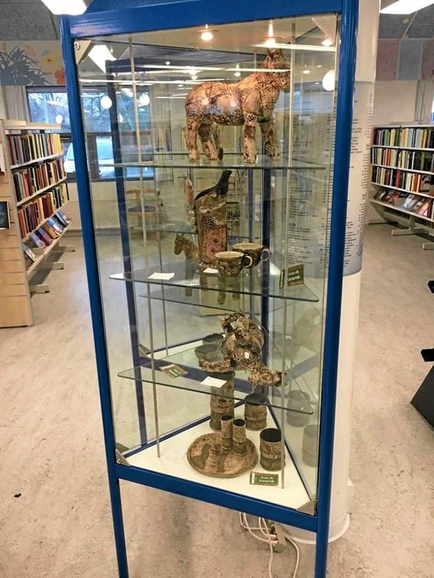 Dyrefigurer og stel-kreativiteten er stor. Foto: Jammerbugt Bibliotekerne