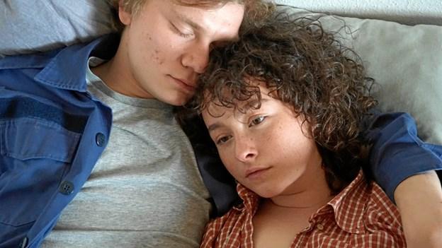 My Hyttel er her under prøve til 'Mia' med Villads Bøye, der blev nomineret til en Bodil for sin hovedrolle i filmen 'Kapgang'.