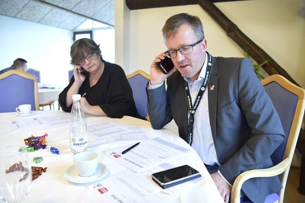 Michael Nielsen, formand for LO Vendsyssel, er også en del af erhvervspanelet.Foto: Bente Poder