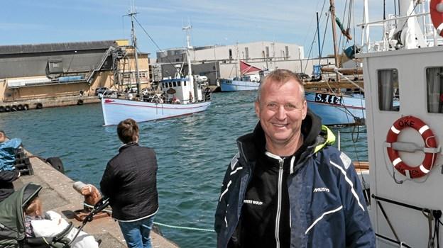 Ander Wolff, Skagen Havfiskeklub, var tilfreds med årets havfiskekonkurrence. Foto: Peter Jørgensen Peter Jørgensen