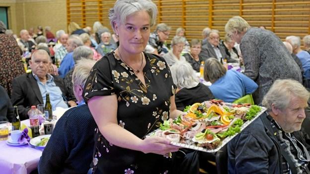 Der blev budt på lækkert smørrebrød fra Centralkøkkenet i Hjørring. Foto: Niels Helver Niels Helver