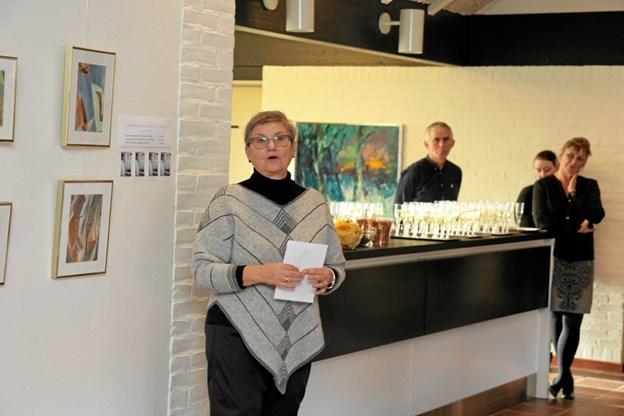 Gerda Tranberg fra Aabybro er formand for kunstnergruppen Silikone. Foto: Flemming Dahl Jensen