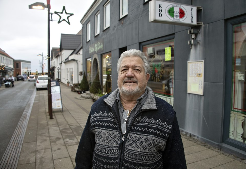 Fulvio Drusian stopper 15. januar med at drive pizzaria og restaurant i Nørregade.Foto: Kurt Bering