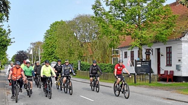 MTB-klubben træner hver onsdag aften og lørdag formiddag. Alle er velkommen til at køre med. Foto: Niels Helver Niels Helver