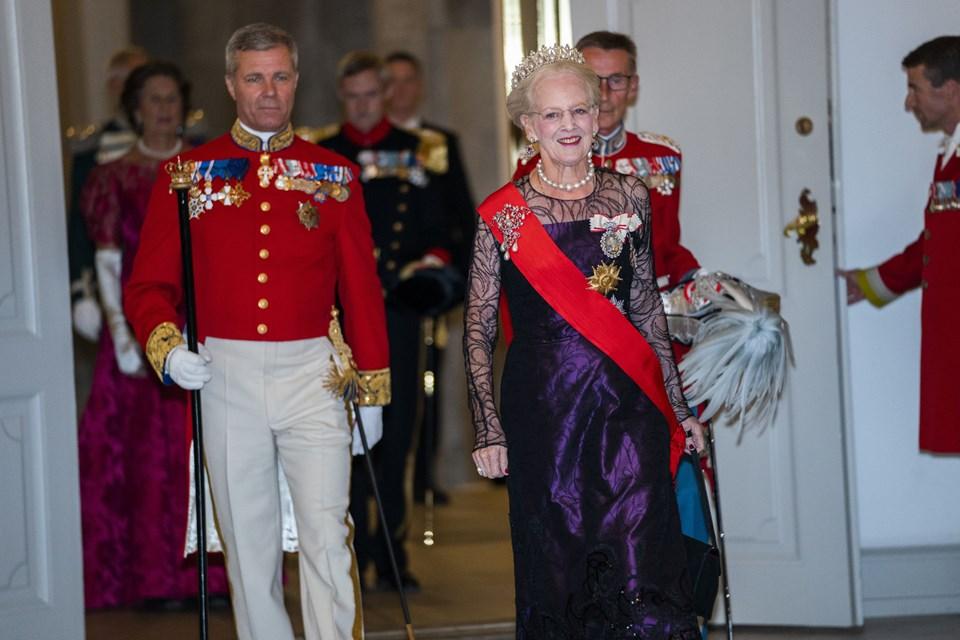 Dronning Margrethe ankommer. Foto: Martin Sylvest/Scanpix Ritzau