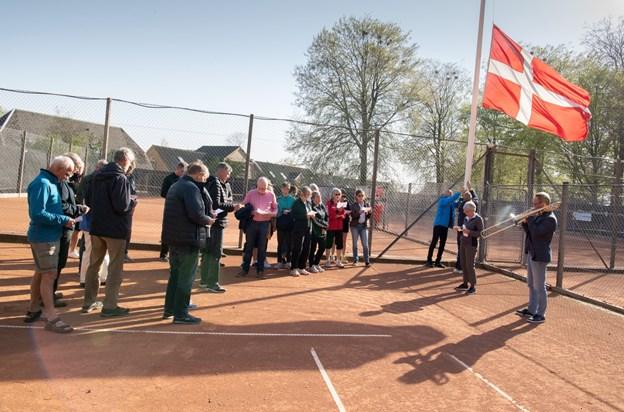 Klubben melder om et godt fremmøde til standerhejsningen. Foto: Henrik Louis HENRIK LOUIS