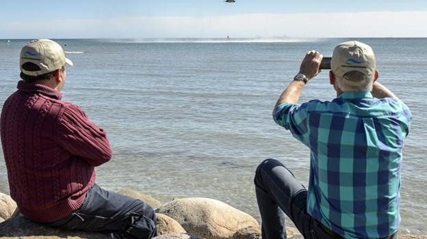 Der er vild med vand 1. juni på Rønnerhavnen. Peter Broen