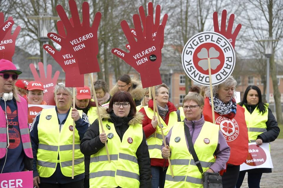 Dansk Sygeplejeråd var også med.  Foto: Bente Poder