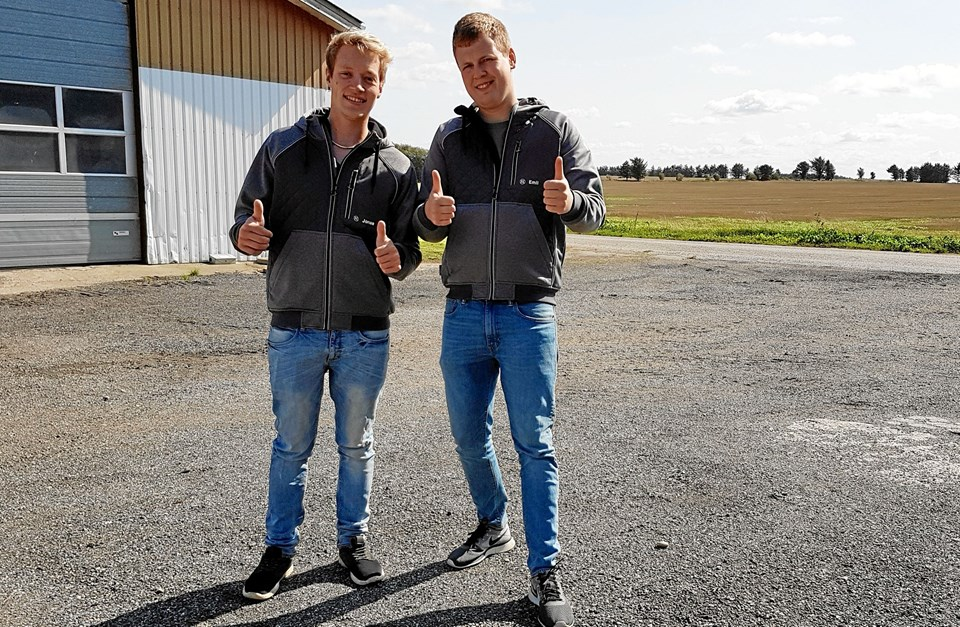 Jonas Jensen og Emil Hansen er to af de frivillige kræfter bag DM i pløjning. Privatfoto