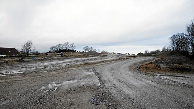 Byggemodningen på Overby Bakke i Stae er i fuld gang. Foto: Allan Mortensen