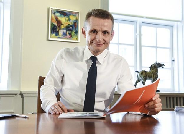 At kunderne er tilfredse og har en positiv opfattelse af os er jo et af de vigtigste parametre for en bank i dag, fortsætter Claus Andersen Foto: Bent Bach