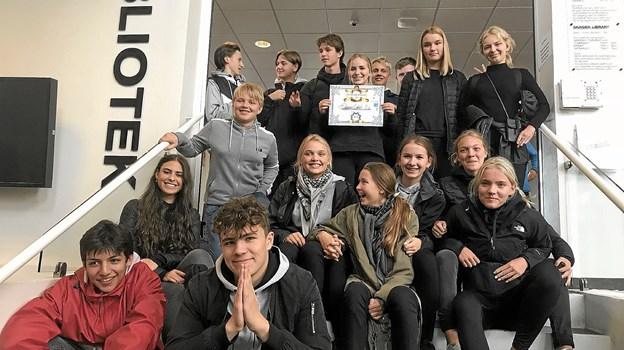 Skagen Skoles 9. x vandt konkurrencen på kulturcykelturen Foto: Skagen Bibliotek