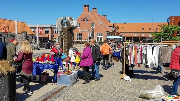 Lions Skagen var på besøg ved Vandkunsten, med det traditionelle loppemarked. Foto: Ole Svendsen