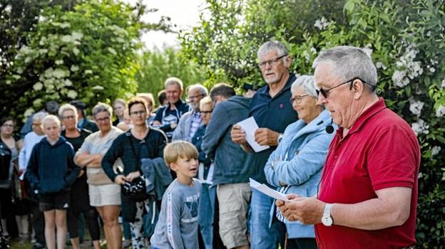 Provst og tidligere præst i Nors Henning Sørensen holdt båltalen. Foto: Kristian Amby Ole Iversen
