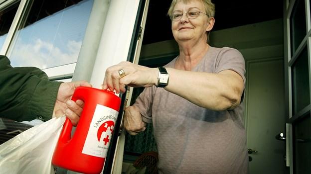 Søndagens Røde Kors-indsamling indbragte godt 140.000 kroner i de tre afdelinger i Thy. Arkivfoto