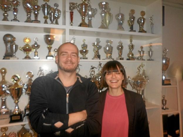 Der var genvalg til Bjørn Astrup som økonomiansvarlig og til Kristina Rubio som formand i LKB Basketball. Foto: Kjeld Mølbæk
