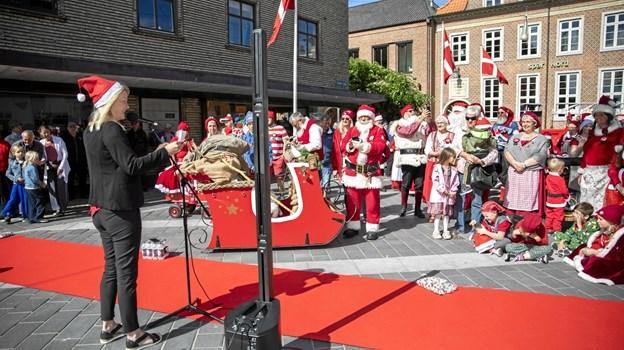 Jeg er vild med at vi er så skøre i Frederikshavn, at vi inviterer til jul i juni, sagde borgmesteren. Foto: Michael Madsen MICHAEL MADSEN  OCTOMEDIA