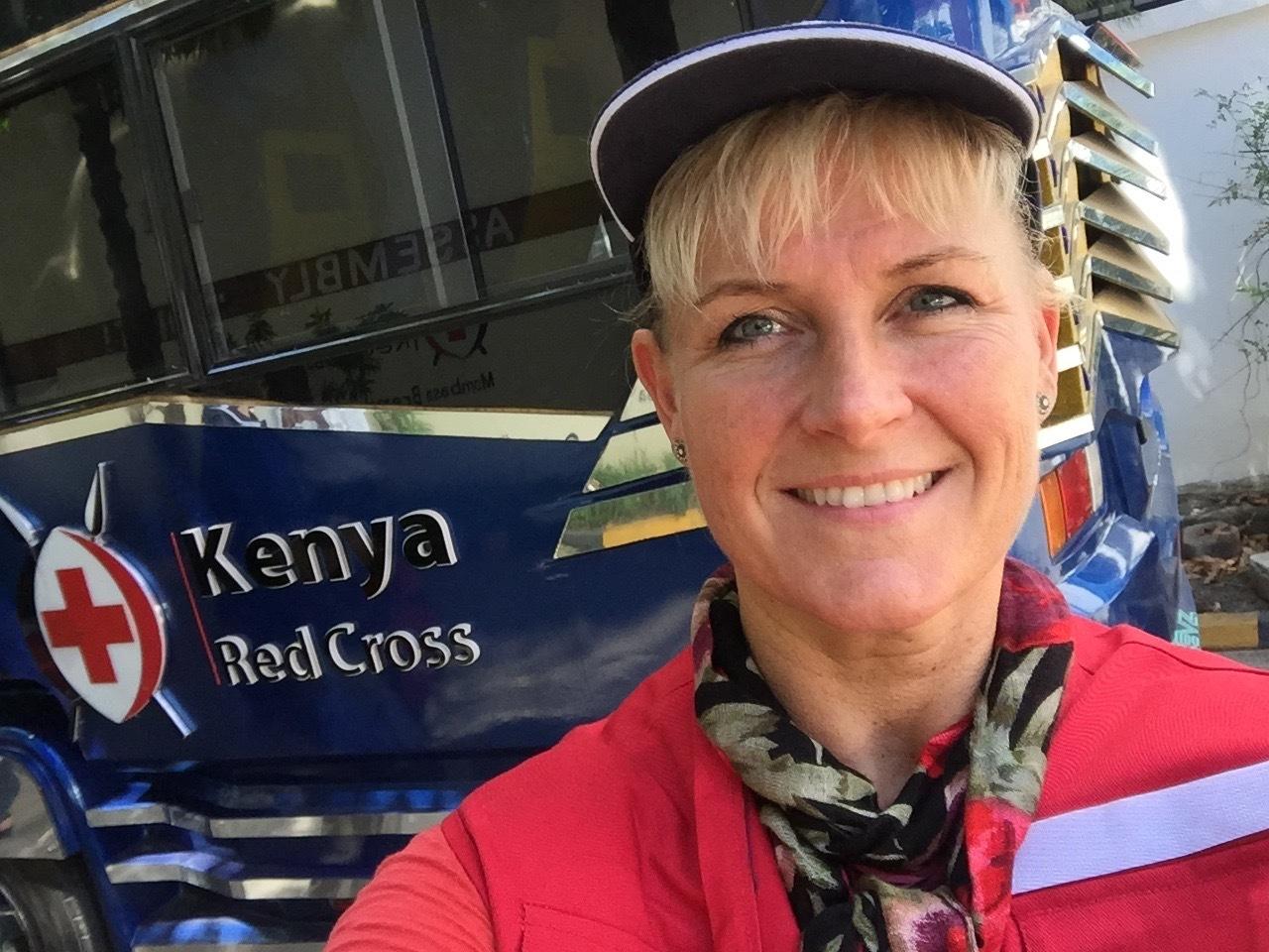 Birgitte Wilsted Simonsen er lige hjemvendt fra Kenya, som hun har besøgt med Røde Kors. Privatfoto