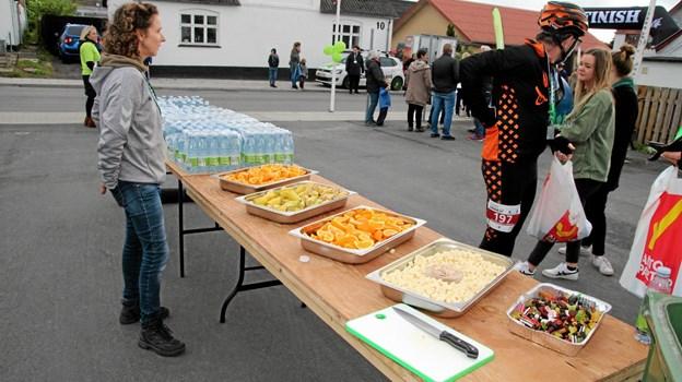 Ingstrup havde gjort rigtig meget ud af målområdet. Der var goodiepack til alle deltagerne med blandt andet ost. Foto: Flemming Dahl Jensen Flemming Dahl Jensen