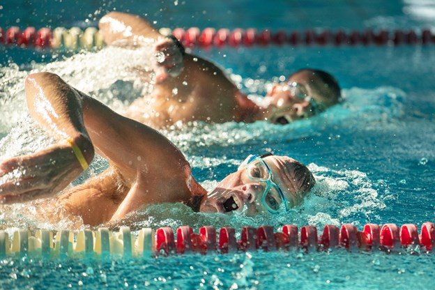 De to svømmere var meget godt tilfredse med træningen, hvor deres tempo var helt perfekt, for de skal jo følges ad. Hans Ravn