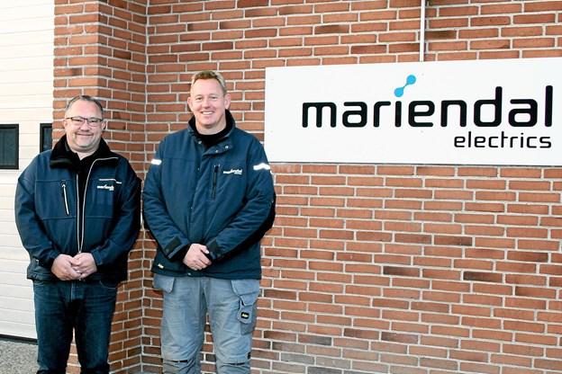 Lederteamet for Mariendal Electrics i Vester Hassing og Hals, Lars Bærentsen (t.v.) og Michael Lund Jensen. Foto: Mariendal Electrics Foto: Allan Mortensen