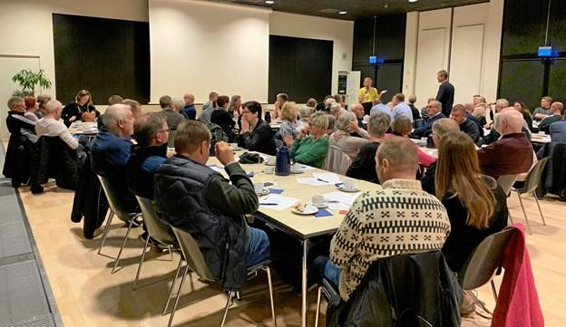 Omkring 75 deltog i mødet. Privatfoto