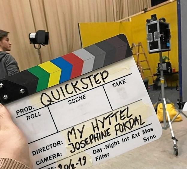 Klar til optagelse af 'Quickstep', hvor My Hyttel både er manuskriptfortatter og instruktør.