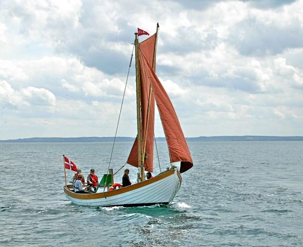 Den nu 10 år gamle havbåd blev søsat 1. november for 10 år siden. Det skal fejres, blandt andet med bogudgivelse i anledning af jubilæet. Privatfoto