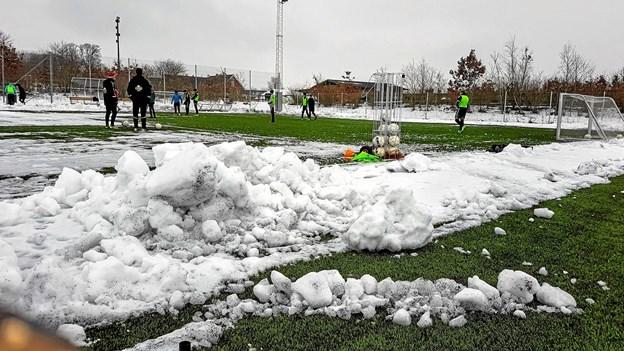 Banechefen havde haft travlt med at rydde flere af banerne for sne. Foto: Karl Erik Hansen Karl Erik Hansen