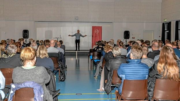 I et spørgeskema til DR inden optagelsen skrev Lindy under højde 180 cm. Foto: Mogens Lynge Mogens Lynge