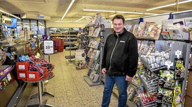 Kom Gade Sørensen glæder til at købmandsbutikken får et make-over. Arbejdet begynder mandag i uge 2.Foto: Ole Iversen