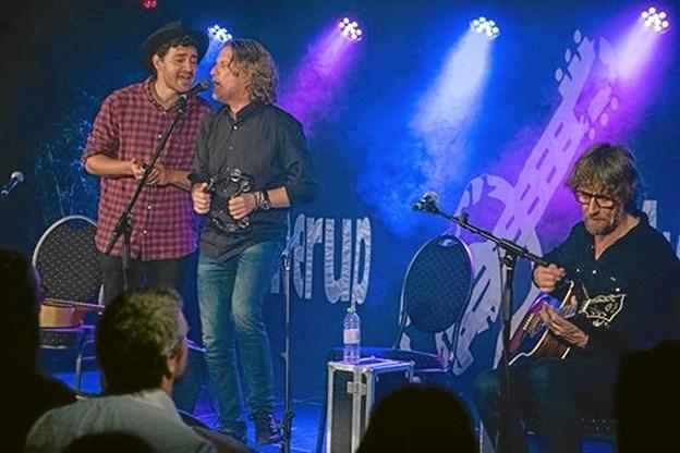 Rock-pop-duoen Sko og Torp har til næste år 30-års jubilæum, men de har stadigvæk evnen til at begejstre et publikum. Foto: Bo Christensen - pressefotos.dk