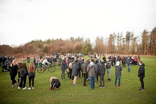 450 elever var med til, at indvie det nye MTB spor ved 'Skoven på Nejst'. Foto: Peter Jørgensen