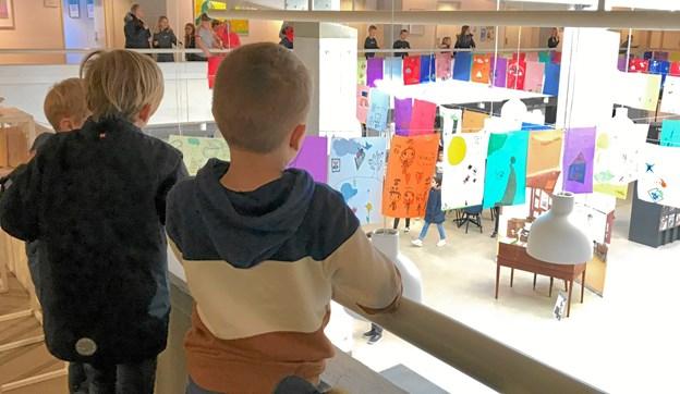 """""""Aksel fra Jante"""". Børnenes udstilling på Frederikshavn Bibliotek."""