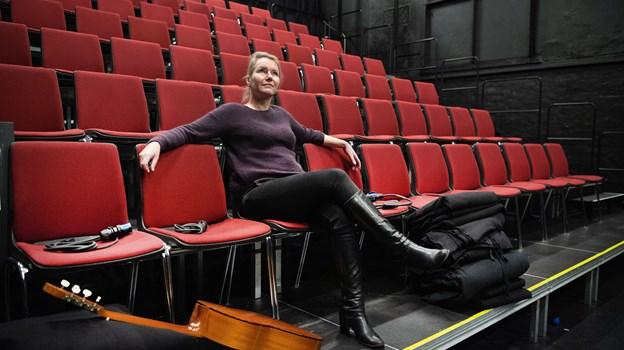 Selv når salen er tom, vibrerer den af liv, føler Pia Bredow. Foto: Hans Ravn.
