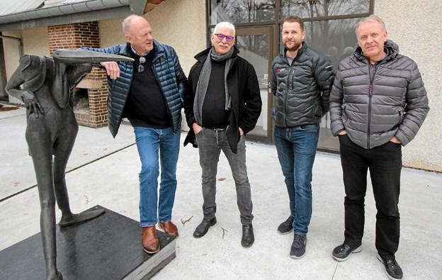 Arbejdsgruppen bag koncerten er fra venstre Niels Rasmussen, Kristian Kristoffersen, Allan Danielsen og Ulrik Eriksen. Foto: Jørgen Ingvardsen