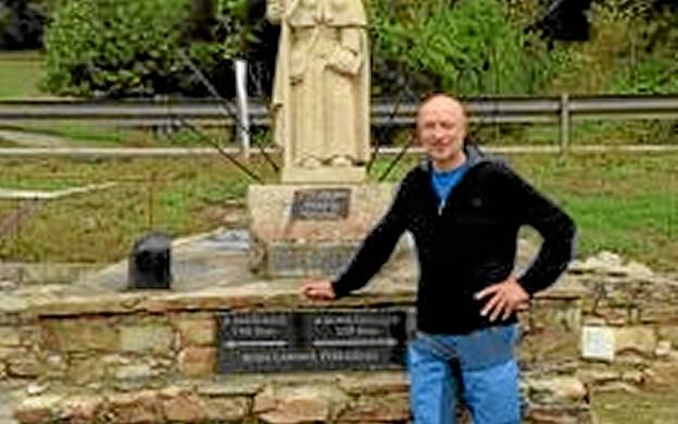 Peter Christensen har selv gået Caminoen, og det fortæller han om i sit foredrag på Kunstcentret. Privatfoto