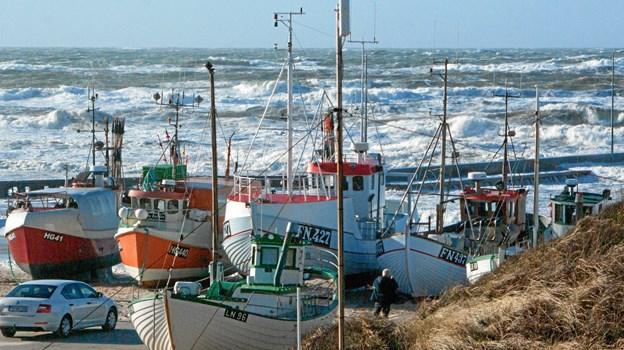 Stormen rammer Vendsyssel. Foto: Gunnar Husebø