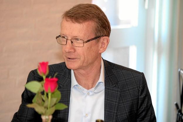 Den tidligere borgmester i Fjerritslev Kommune, Otto Kjær Larsen har faktisk også 25 års jubilæum i politik. 20 år i kommunalpolitik i Fjerritslev og Jammerbugt Kommune samt fem år i regionen. Foto: Flemming Dahl Jensen Flemming Dahl Jensen