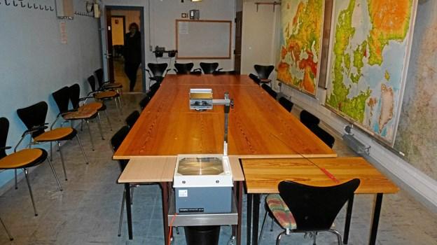 Et af de meget centrale rum i Regan Vest - statsrådsrummet, for de store beslutninger skulle tages.           Arkivfoto: Morten Stenak