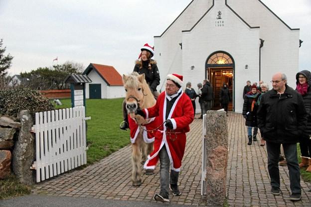Om hest og rytter var med i kirken melder historien ikke noget om. Foto: Hans B. Henriksen Hans B. Henriksen