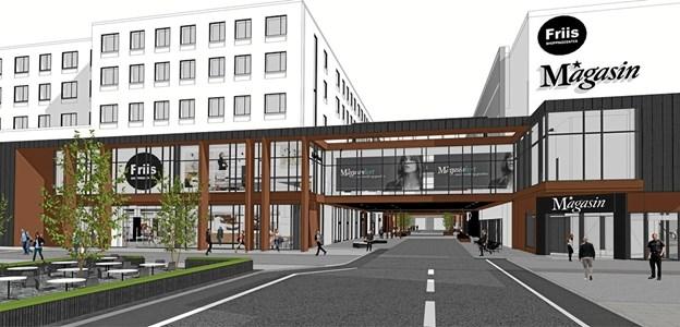 Sådan kommer facaden til at se ud. Tegning: C.F. Møller
