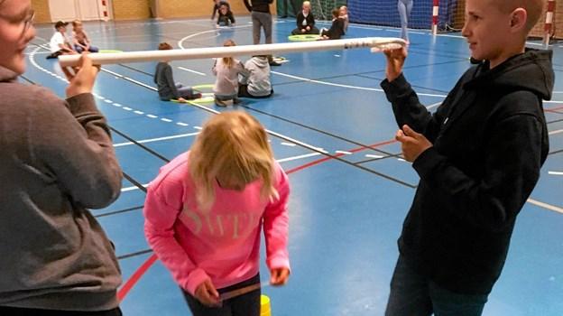 Syvende klasses elever fra Hurup Skole stod atter for den praktiske del. Privatfoto Ole Iversen