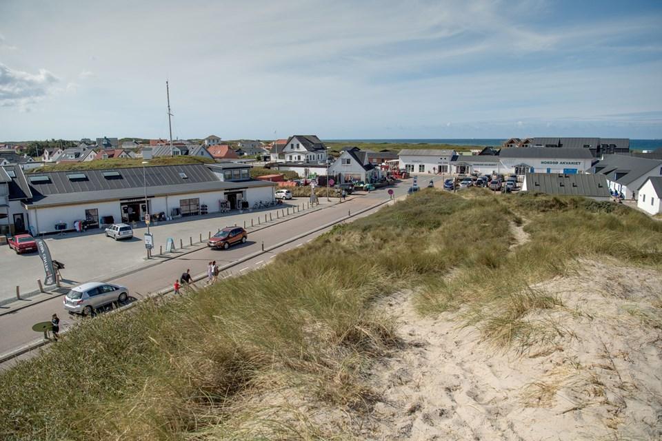 I forvejen er området ved landingspladsen i Vorupør et søgt besøgsmål - når nationalparkcentret står klar, har området endnu en attraktion at byde på. Foto: Henrik Louis