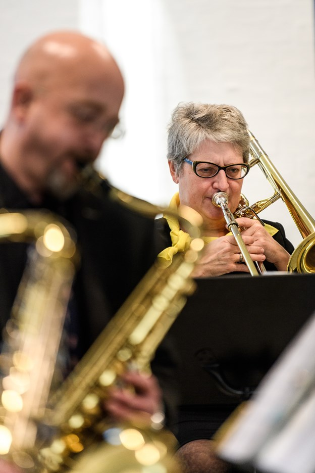 Programmet var varieret med både blues og julemusik. Nicolas Cho Meier Nicolas Cho Meier