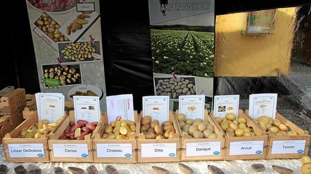 Der var mange forskellige kartoffelsorter.