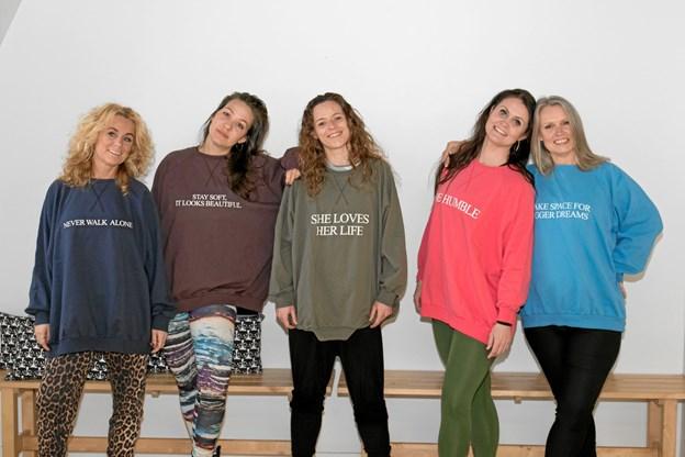 De fem dansere bag BeYou. Fra venstre Rikke Bruun Mortensen, Kathrine Skovsgaard, Gitte Foldager, Susanne Knudsen og Tina Mærsk. Privatfoto