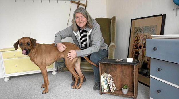 Dorthe - her med hunden Kiki. Foto: Anne Mette Welling Anne Mette Welling